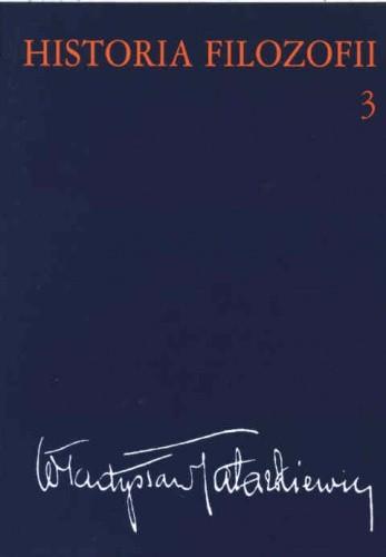 Okładka książki Historia filozofii t.3