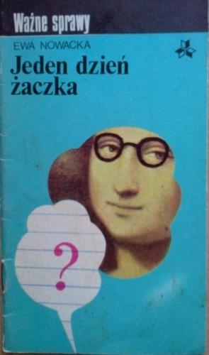 Okładka książki Jeden dzień żaczka