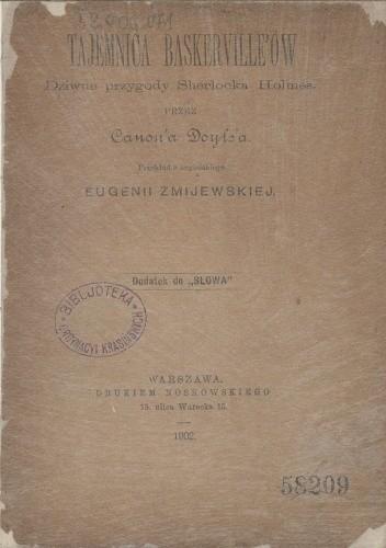 Okładka książki Tajemnica Baskerville'ów