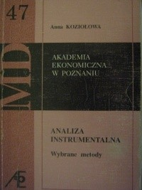 Okładka książki Analiza instrumentalna. Wybrane metody