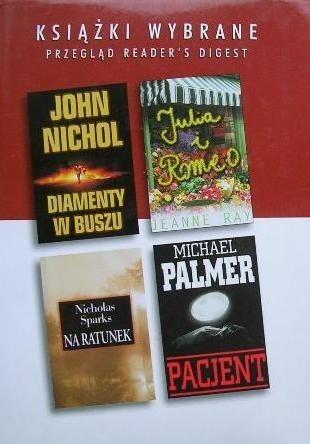 Okładka książki Na ratunek; Julia i Romeo; Diamenty w buszu; Pacjent
