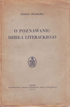 Okładka książki O poznawaniu dzieła literackiego