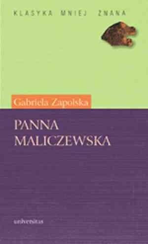 Okładka książki Panna Maliczewska