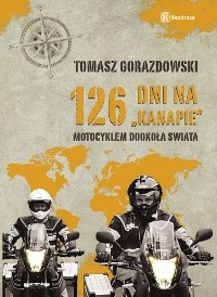 Okładka książki 126 dni na kanapie. Motocyklem dookoła świata