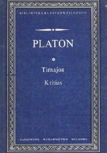 Okładka książki Timajos. Kritias
