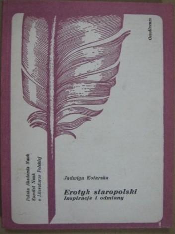 Okładka książki Erotyk staropolski Inspiracje i odmiany