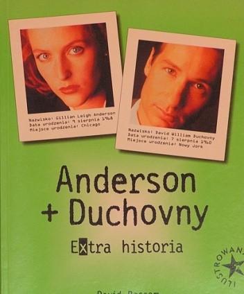Okładka książki Anderson i Duchovny. Extra historia