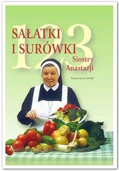 Okładka książki 123 sałatki i surówki siostry Anastazji
