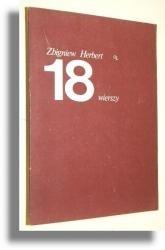 Okładka książki 18 WIERSZY