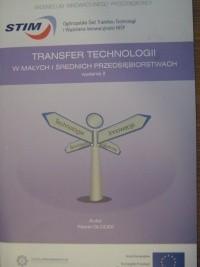 Okładka książki Transfer technologii w małych i średnich przedsiębiorstwach