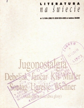 Okładka książki Literatura na świecie nr 11/1994 (280)