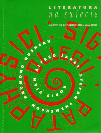 Okładka książki Literatura na świecie nr 8-9/1997 (313-314)