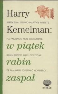 Okładka książki W piątek rabin zaspał