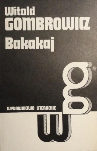 Okładka książki Bakakaj
