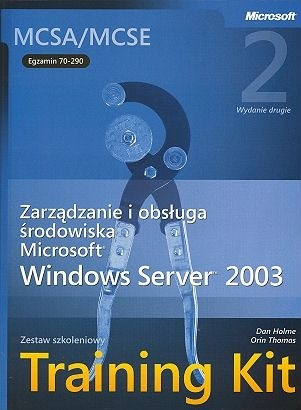 Okładka książki Windows Server 2003 Training Kit