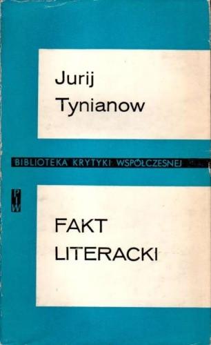 Okładka książki Fakt literacki