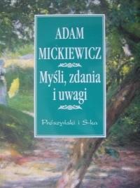 Okładka książki Myśli, zdania i uwagi