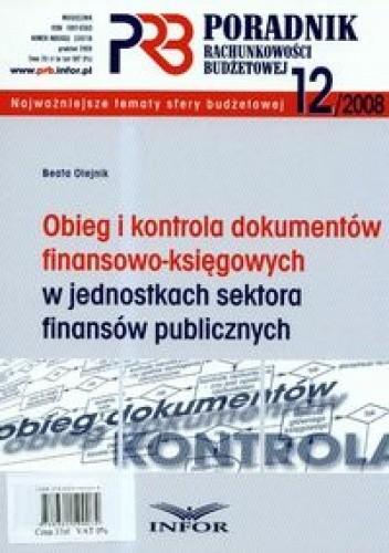 Okładka książki Poradnik rachunkowości budżetowej 2008/12
