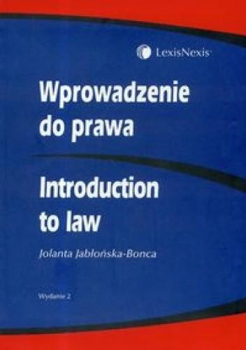 Okładka książki Wprowadzenie do prawa Introduction to Law