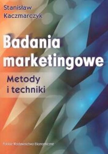 Okładka książki Badania marketingowe. Metody i techniki