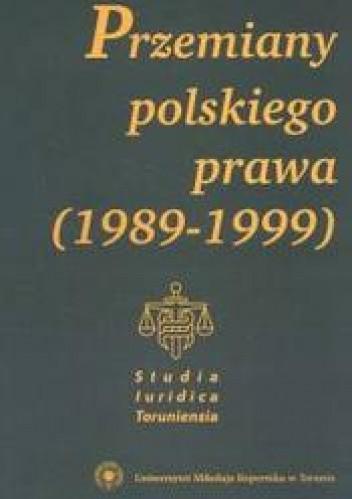 Okładka książki Przemiany polskie T 1 /Studia luridica toruniensia