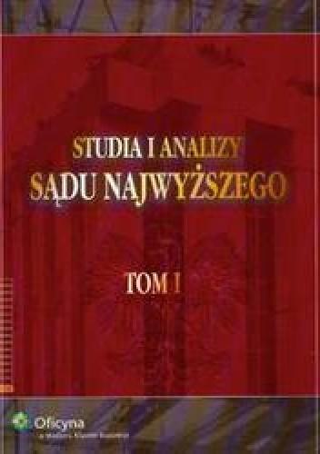 Okładka książki Studia i analizy Sądu Najwyższego t.1
