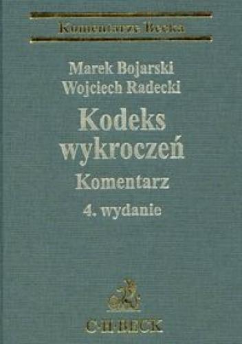Okładka książki Kodeks wykroczeń