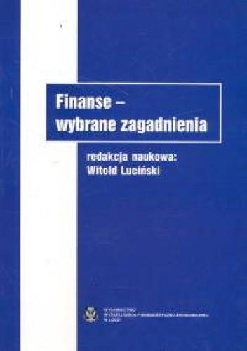 Okładka książki Finanse Wybrane zagadnienia