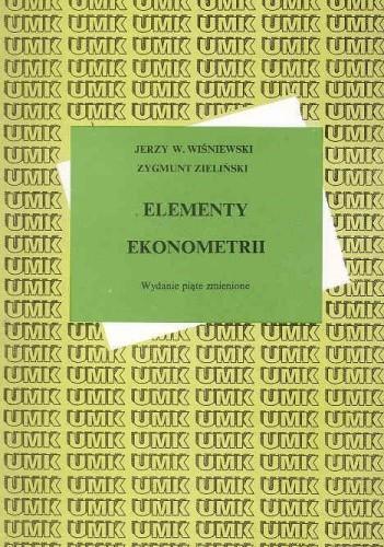 Okładka książki Elementy ekonometrii. Wyd. 5. zmienione/UMK/