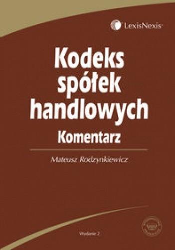 Okładka książki Kodeks spółek handlowych Komentarz