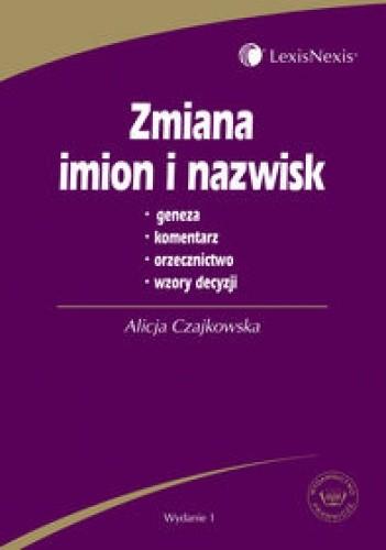 Okładka książki zmiana imion i nazwisk