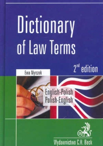 Okładka książki Dictionary of Law Terms English-Polish Polish-English