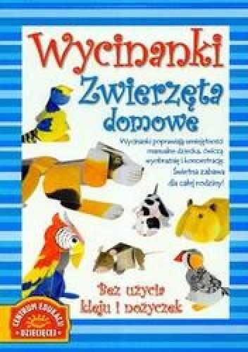 Okładka książki Wycinanki zwierzęta domowe