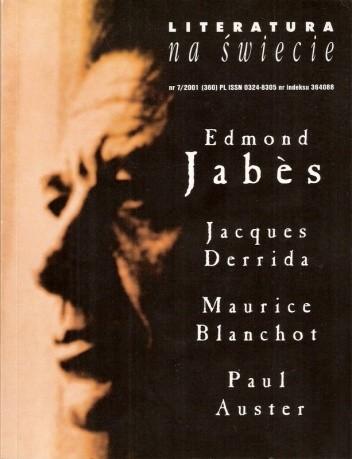 Okładka książki Literatura na świecie nr 7/2001 (360)
