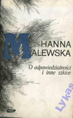 Okładka książki O odpowiedzialności: Wybór publicystyki (1945-1976)