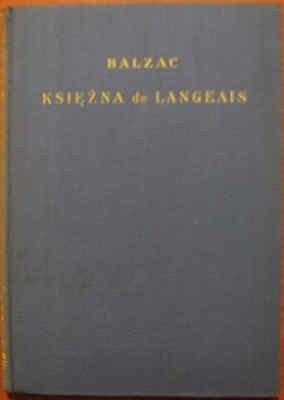 Okładka książki Księżna de Langeais
