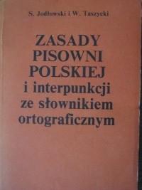 Okładka książki Zasady pisowni polskiej i interpunkcji ze słownikiem ortograficznym
