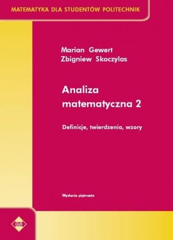 Okładka książki Analiza matematyczna 2. Definicje, twierdzenia, wzory
