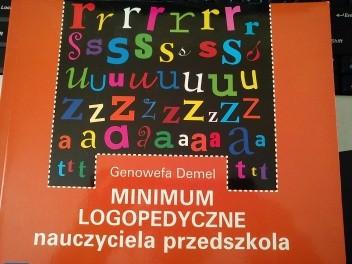 Okładka książki Minimum logopedyczne nauczyciela przedszkola