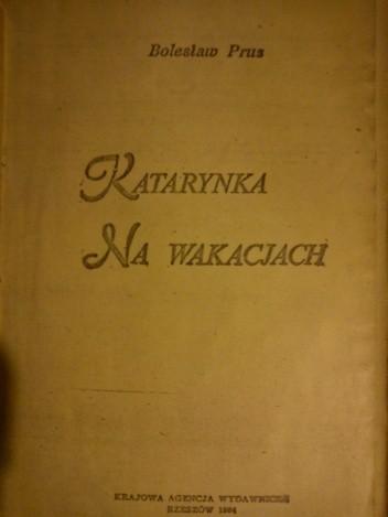 Okładka książki Katarynka. Na wakacjach