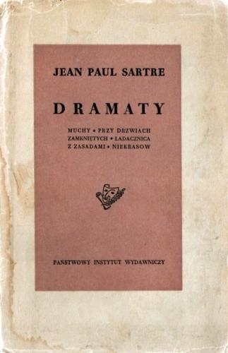 Okładka książki Dramaty: Muchy. Przy drzwiach zamkniętych. Ladacznica z zasadami. Niekrasow