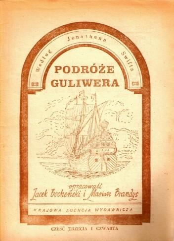 Okładka książki Podróże Guliwera, część trzecia i czwarta