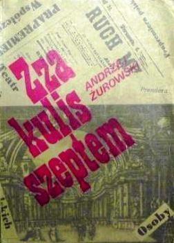 Okładka książki Zza kulis szeptem