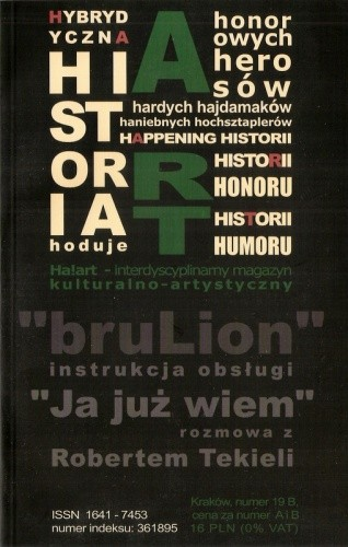 Okładka książki Ha!art – interdyscyplinarny magazyn kulturalno-artystyczny, nr 19B, 2004