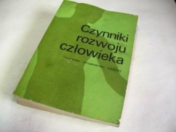 Okładka książki Czynniki rozwoju człowieka. Wstęp do ekologii człowieka