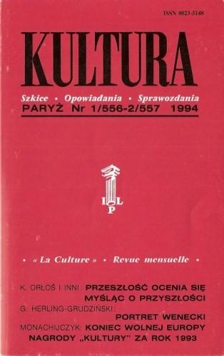 Okładka książki Kultura, nr 1-2 (556-557) / 1994