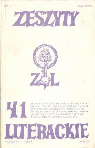 Okładka książki Zeszyty Literackie nr 41 (1/1993)