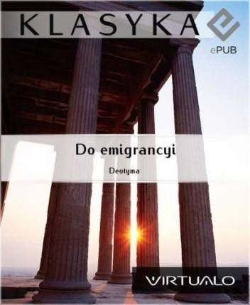 Okładka książki Do Emigrancyi