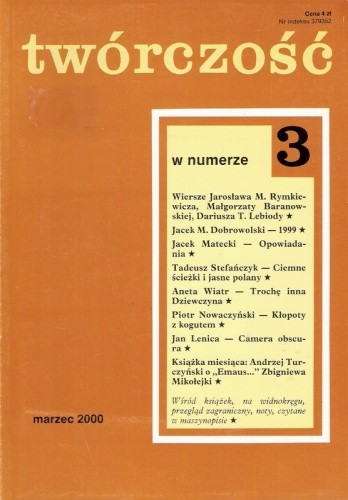 Okładka książki Twórczość, nr 3 (652) / 2000