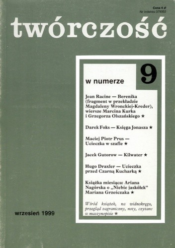 Okładka książki Twórczość, nr 9 (646) / 2000